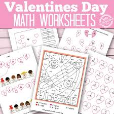 valentines day math worksheets free kids printables kids