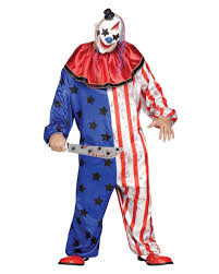 horror circus clown costume with mask plus size halloween