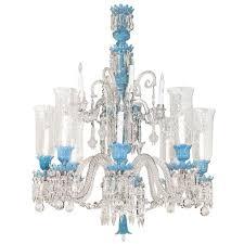 Baccarat Chandelier Baccarat Opaline Glass And Twelve Light Chandelier At 1stdibs