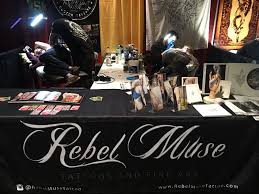 rebel muse tattoo at hell city tattoo expo in columbus ohio rebel