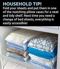 fold up a set of sheets put them inside matching pillowcase