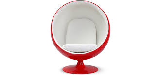 red ball chair eero aarnio style faux leather design armchair