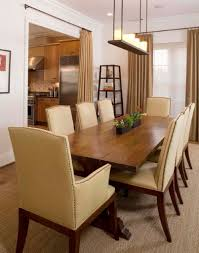 dining room rustic leather dining chairs with ivory chairs pad