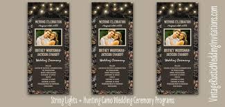 Camo Wedding Invitations Camo Wedding Programs Vintage Rustic Wedding Invitations