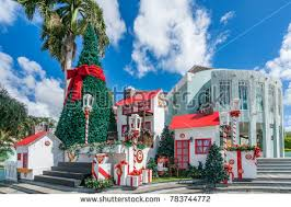 caribbean decorations christmas decorations around willemstad view around stock photo