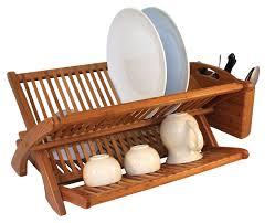Bamboo Utensil Holder Dish Rack