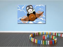 toile pour chambre bébé tableau pour chambre enfant en toile plexi et alu thème avion