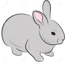 grey rabbit clipart clipartxtras