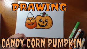 how to draw halloween pumpkin candy corn cartoon for kids learn to