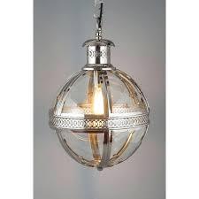 Glass Orb Ceiling Light Nordic Rh Vintage Pendant Light Sphere Fixture Foucaults Iron Orb