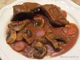 comment cuisiner le coeur de boeuf bœuf marengo recette facile recettes à base de boeuf