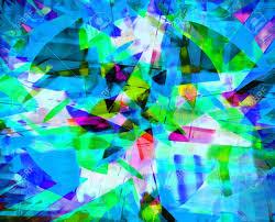 Muster Blau Grün Kunst Abstrakt Hell Rainbow Chaos Muster Hintergrund In Blau Gr禺n