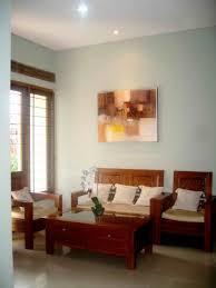 astounding simple living room design layout having teak wood sofas