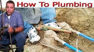 House Plumbing by Water Line House To Meter Replacement Pex Pipe Youtube