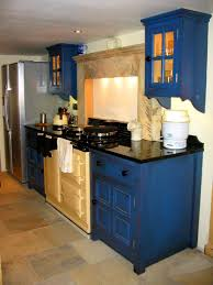Cream Color Kitchen Cabinets Amusing Blue Color Kitchen Cabinets Come With Stainless Steel