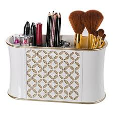 hair accessories organizer diamond lattice makeup brush holder sink cabinet vanity