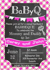 babyq baby shower invitations for girls barbeque baby shower