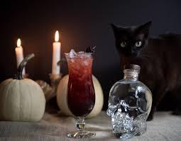 halloween glass halloween cocktail the black widow