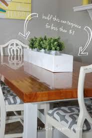 Centerpieces For Dining Room Tables Best 25 Planter Box Centerpiece Ideas On Pinterest Flower Box