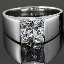 aliexpress buy 2ct brilliant simulate diamond men wholesale 2ct sona simulate princess diamond ring for wedding