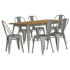 Outdoor Metal Dining Chairs City Furniture Huntley Light Tone Rectangular Table U0026 4 Metal Chairs