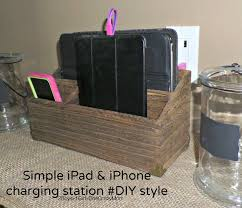 build a charging station create a simple diy iphone and ipad charging station to match