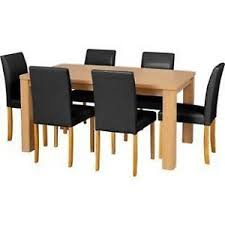 solid oak dining table and 6 chairs oak dining table and chairs ebay