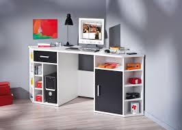 bureau en coin meuble bureau ordinateur en coin noir et blanc fabri belfurn