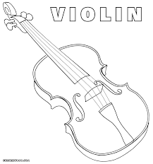 violin coloring pages coloring pages to download and print