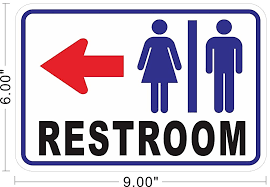 Male Female Bathroom Signs by Braille Restroom Sign With Male Female Accessible Pictogram Sku