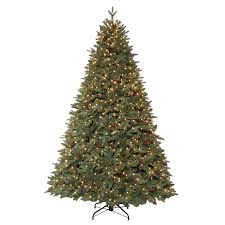 shop living 7 5 ft pre lit hayden pine artificial