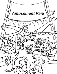 theme park coloring pages coloring