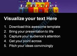 happy birthday candles01 events powerpoint templates and