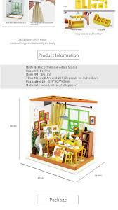 Interior Design Process Steps by Robotime Diy Miniature Dollhouse Kit Dg103 Ada U0027s Studio With Led