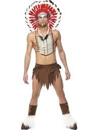 Skimpy Male Halloween Costumes Native American Village Costume Costumes