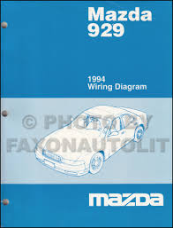 1994 mazda 929 repair shop manual original