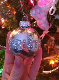 glass ornaments from walmart rhinestone letters from dollarama