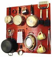 kitchen overflowing try modern take on julia child style pegboard