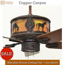 western ceiling fans with lights copper canyon sheridan bronze ceiling fan westerndecor
