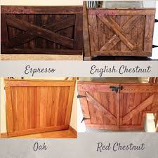 Red Barn Doors by Espresso English Chestnut Oak Red Chestnut I Want