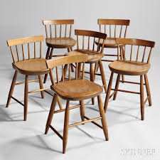Shaker Dining Room Chairs by Assembled Set Of Six Low Back Shaker Dining Chairs Sale Number