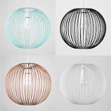 Wiring A Ceiling Light Uk Modern Wire Ball Non Electric Easy Fit Ceiling Light Shade Pendant