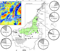 Ccw Map Paleomagnetism Of The Crocker Formation Northwest Borneo