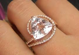3 carat ring engagement ring 3 carat morganite ring with diamonds
