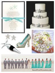 silver and aqua starfish theme wedding u2013 beach wedding ideas