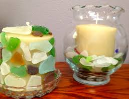 sea glass candle ideas find sea glass