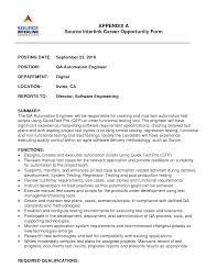Sample Resume Of Software Engineer by Download Qa Test Engineer Sample Resume Haadyaooverbayresort Com