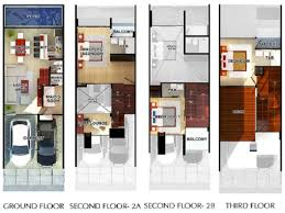 modern townhouse floor plans story lrg house plans 64501