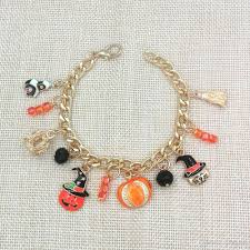 beaded chain bracelet images 2016 hot sale gold plated chain bracelets with halloween pumpkin jpg