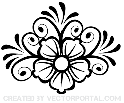 flower ornament vector 123freevectors